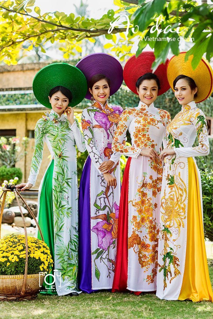 "world-ethnic-beauty: Ao Dai - The traditional dress of Vietnam. """