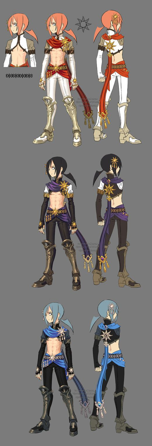 Game Design Character Classes : This is the myth theme costume i designed for assassin