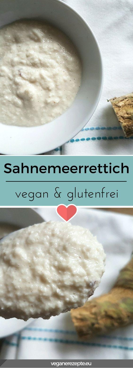 So einfach kann es sein, #Sahnemeerrettich #vegan herzustellen. Schmeckt perfekt zu veganem Lachs aus Möhren, oder Suppen. #glutenfrei #rezept #veganfood