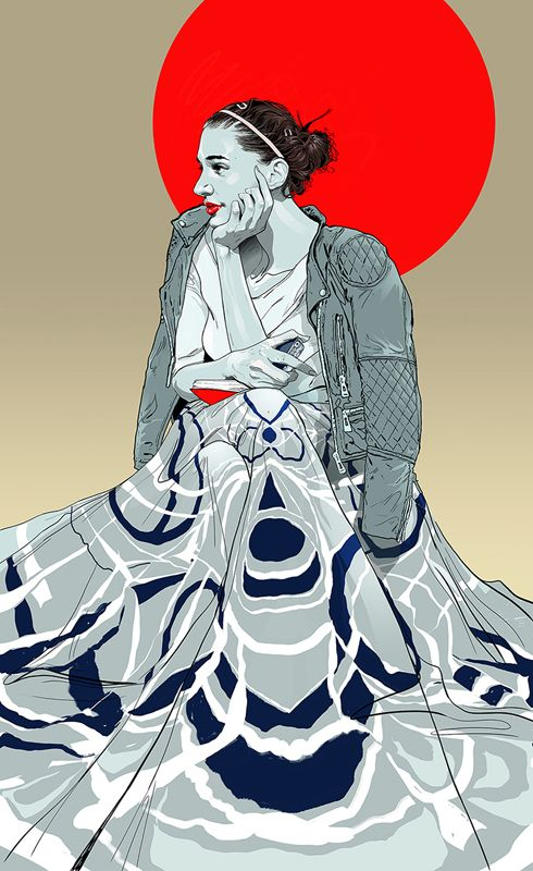 #gavinreece #newdivision #illustration #stylised #contemporary #textured #character #fashion