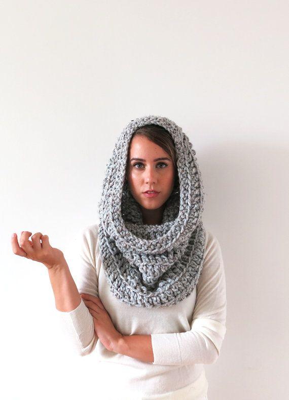 hood scarf . crochet hood scarf . snood scarf . knit by TARSTITCH