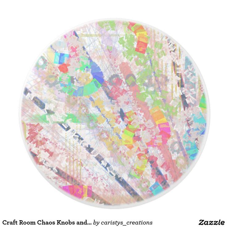 Craft Room Chaos Knobs and Pulls Ceramic Knob
