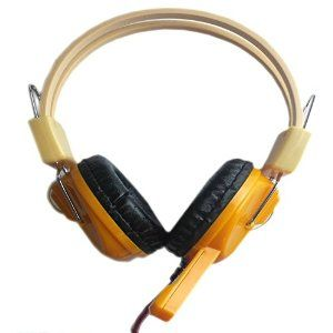 Faster Professional Stereo Headphone Headset with Microphone for Computer Pc Laptop Notebook Yellow