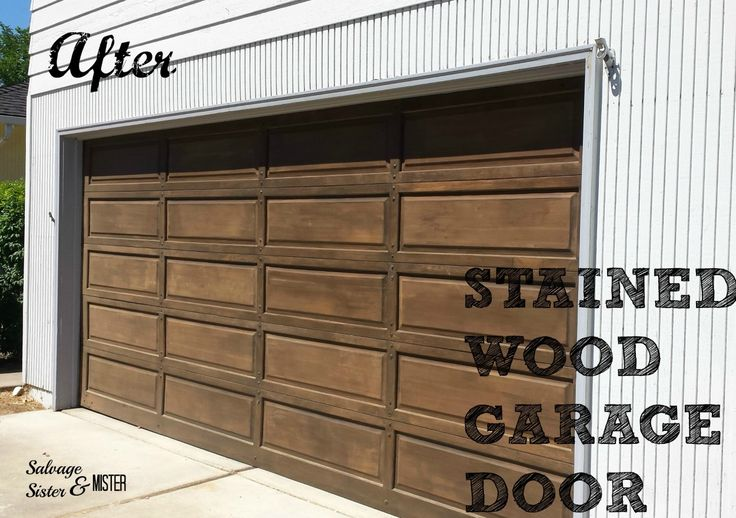 Staining A Wood Garage Door Garage Doors