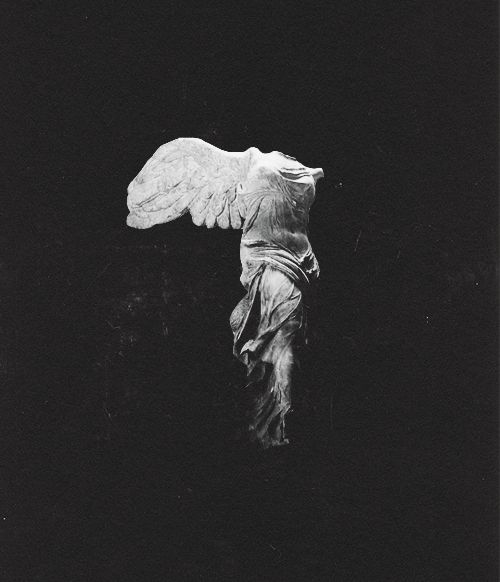 The Nike of Samothrace, discovered in 1863, is estimated to have been created around 200-190 BC. It is 8ft (2.44m) high. It was created to not only honor the goddess, Nike, but to honor a sea battle. It conveys a sense of action and triumph as well as portraying artful flowing drapery through its features which the Greeks considered ideal beauty. It stood on a rostral pedestal of gray marble from Lartos representing the prow of a ship (most likely a trihemiolia), and represents the goddess…