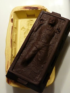 Han Solo in carbonite chocolate mold