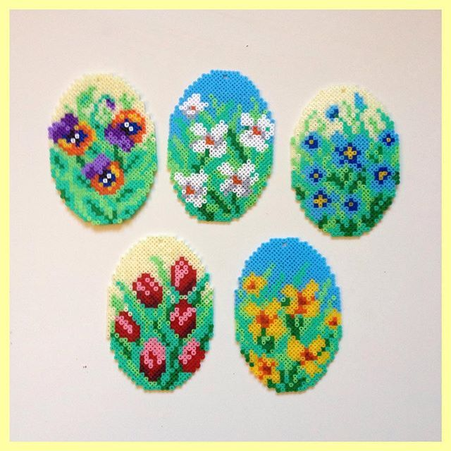 Easter eggs hama mini beads by talbutikken
