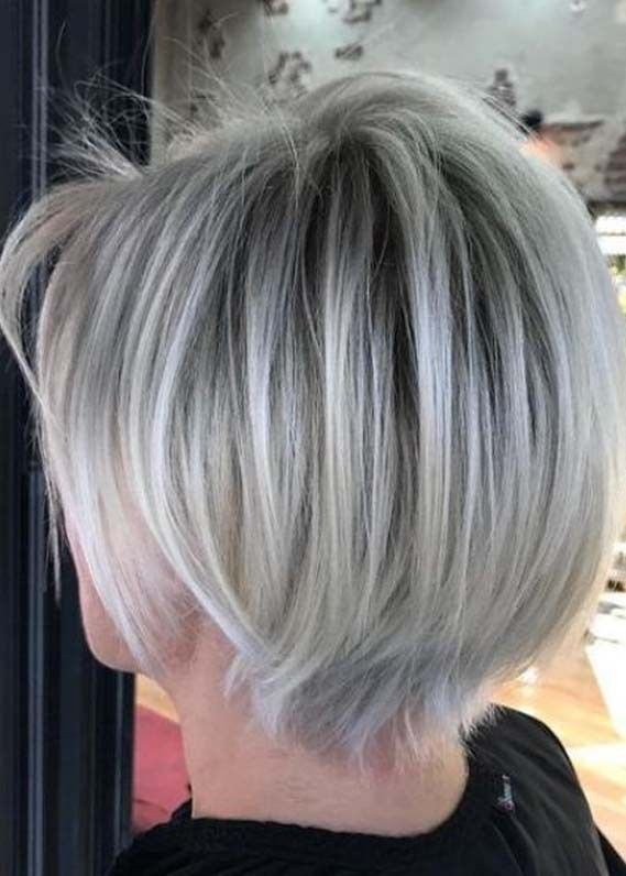 Short Haircuts For Women With Blonde Shades In 2020 In 2020 Short Hairstyles For Women Womens Hairstyles Bob Hairstyles For Thick