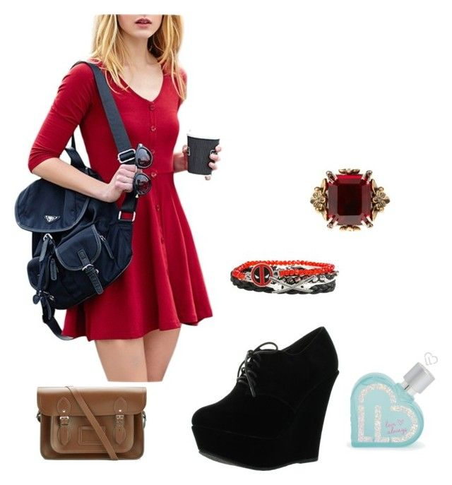 """""""casual Sunday outfit"""" by cicizilla136 on Polyvore featuring Forever Link, The Cambridge Satchel Company, Alexander McQueen and Aéropostale"""