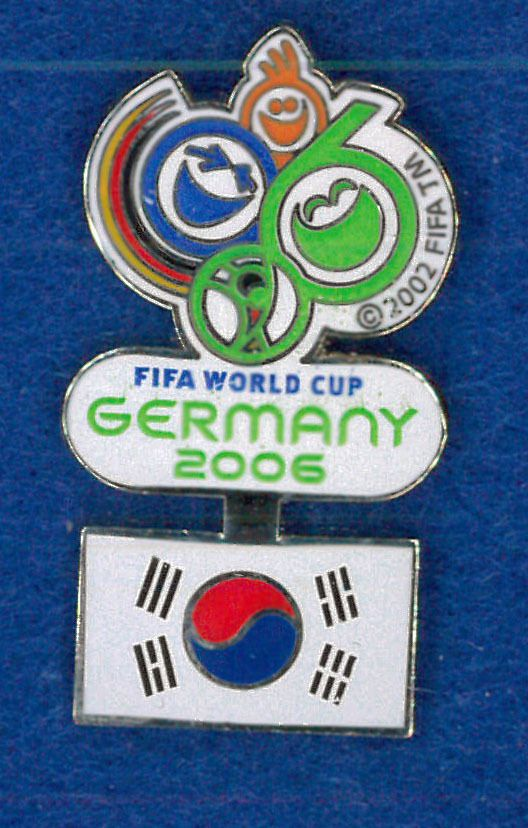 Germany 2006 World Cup soccer pin - South Korea flag - FIFA football badge   | eBay
