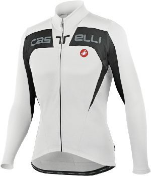 Castelli Contatto Long Sleeve Jersey - White with Black - Classic Cycling