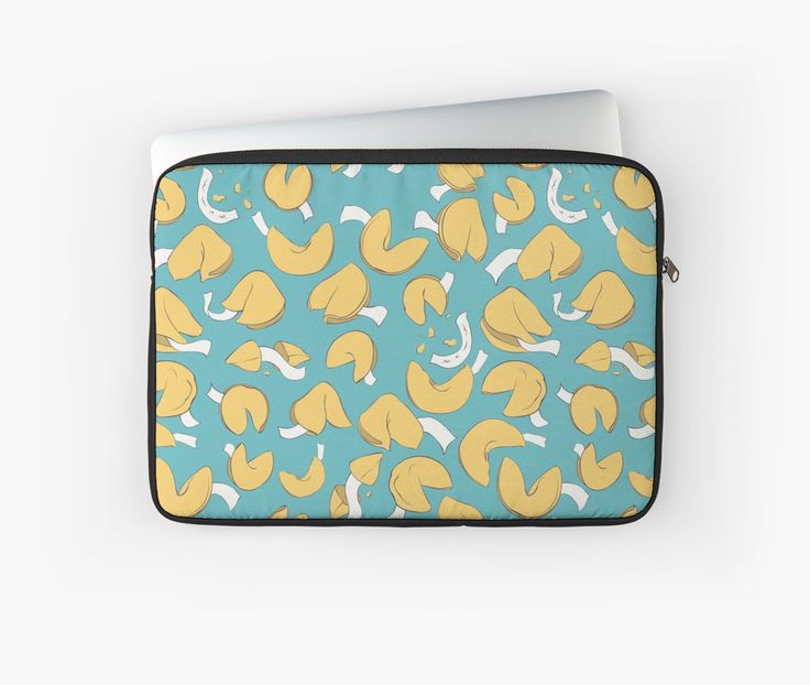 Fortune (cookie) Pattern Laptop Cases by AnMGoug on Redbubble. #cookie #pattern #laptop