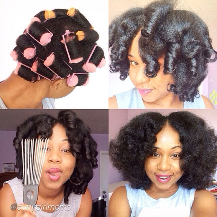 SPONGE ROLLERS ON NATURAL HAIR Natural hair Pinterest