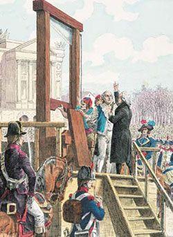 Dit schilderij beeldt het einde van Louis XVI af. Hij wordt op de Place de la Révulution gedood. Zonder deze gebeurtenis had Napoleon nooit zo'n macht gehad en had Dirck Bracke dit boek nooit geschreven. Een geluk bij een ongeluk!