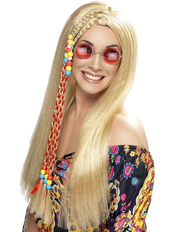 Party Perücke für Hippie Frisur Mädchen