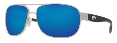 Costa Conch 580P Polarized Sunglasses - Palladium/Blue Mirror