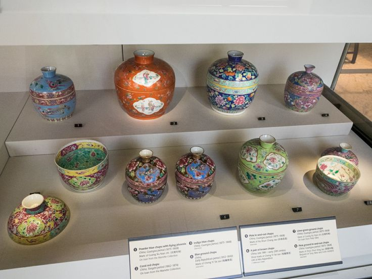 Beautiful tableware found in the Peranakan Museum