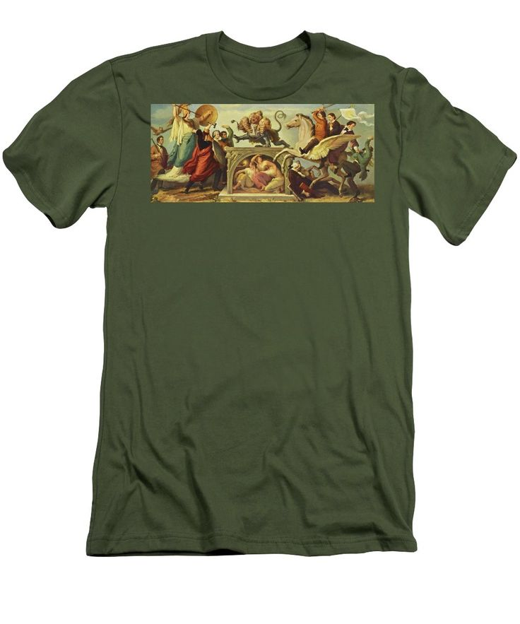 Oil Men's T-Shirt (Athletic Fit) featuring the painting Oil Painting by Kaulbach Wilhelm von