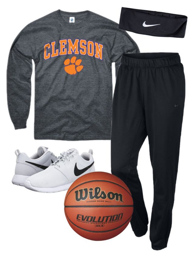 """""""Bros basketball game"""" by ambermillard ❤ liked on Polyvore featuring moda, NIKE, women's clothing, women's fashion, women, female, woman, misses i juniors"""
