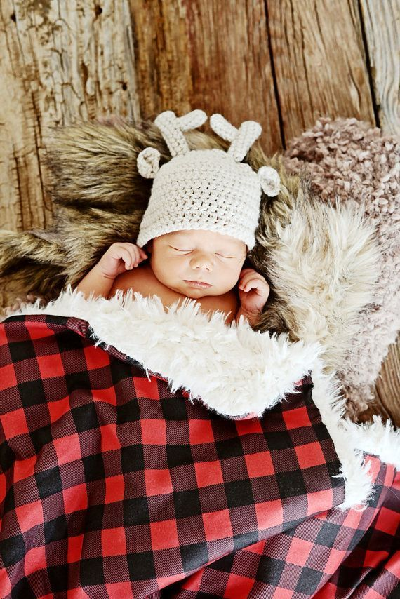 Buffalo Plaid Moose Baby Room