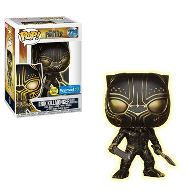 The first wave of Funko Pop figures for Marvel's Black Panther have been released and as well as featuring a fresh look at the movie's huge cast, we get to see T'Challa sporting a very cool new costume...