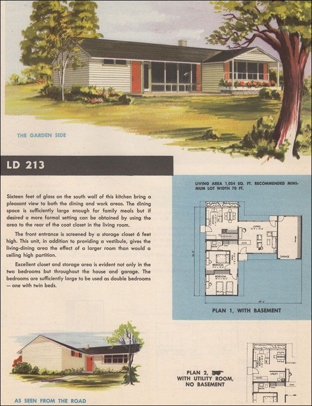864 best houses mcm and ranch images on pinterest for 1950s council house floor plan