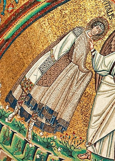 6th cent., detail from Ravenna mosaic