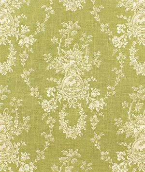 Waverly Country House Toile Dill Fabric