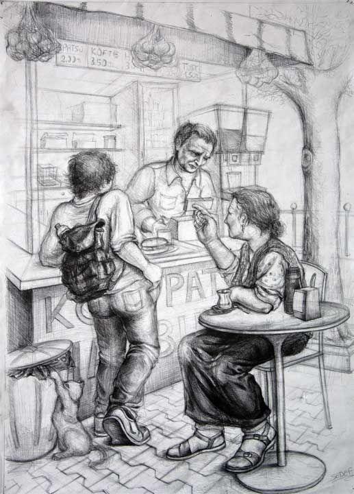 Özel yetenek sınavlarına hazırlık imgesel çizimi #imgesel #karakalem #üniversite…