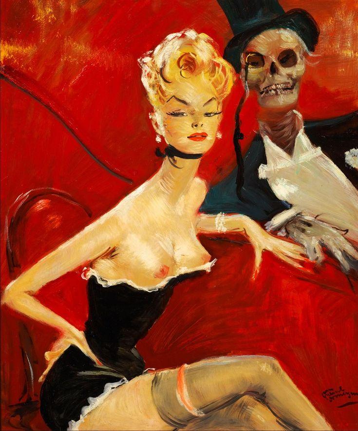 La Veuve Noire by Jean-Gabriel Domergue (1889-1962)