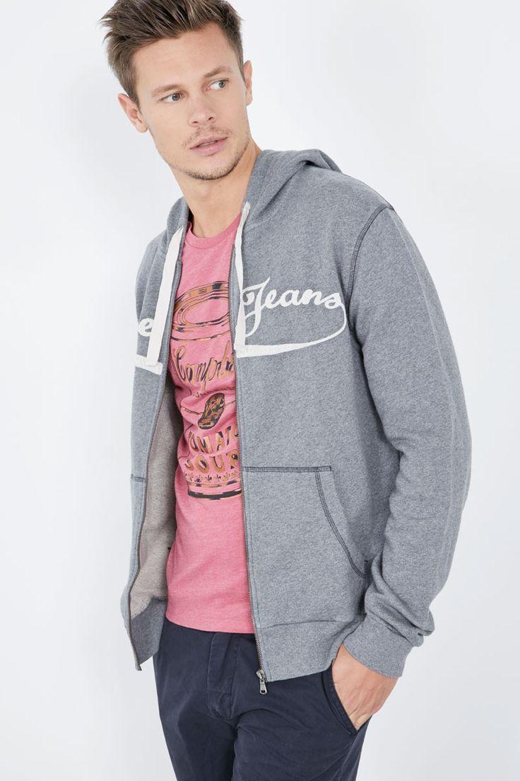 Venda Pepe Jeans / 28240 / Homem / Camisolas, sweats e casacos de malha / Sweat com capuz Cinzento mesclado