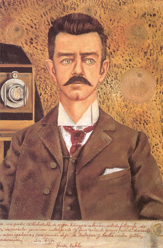 Portrait of My Father, 1951 - by Frida Kahlo | Frida painted this 10 years after her father's death. What would a portrait of your father be? Kahlo JournaltoHealth.com
