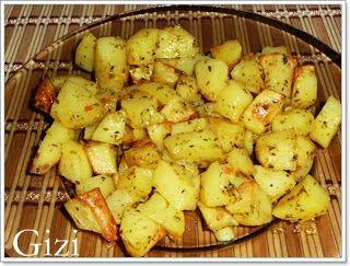 Gizi-receptjei. Várok mindenkit.: Sütőben sült krumpli