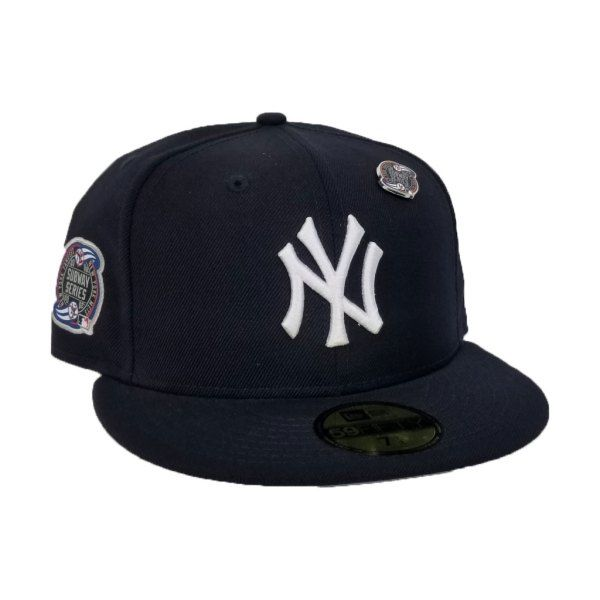 3c05b6d88d2c7 New Era Navy Blue New York Yankees Subway Series Metal Pin 59Fifty Fitted  Hat