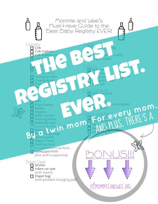 The ULTIMATE guide for a baby registry. A twin mom made it so she knows what shes talkin about! plus a FREE #PRINTABLE!!! | Mommie and Wee