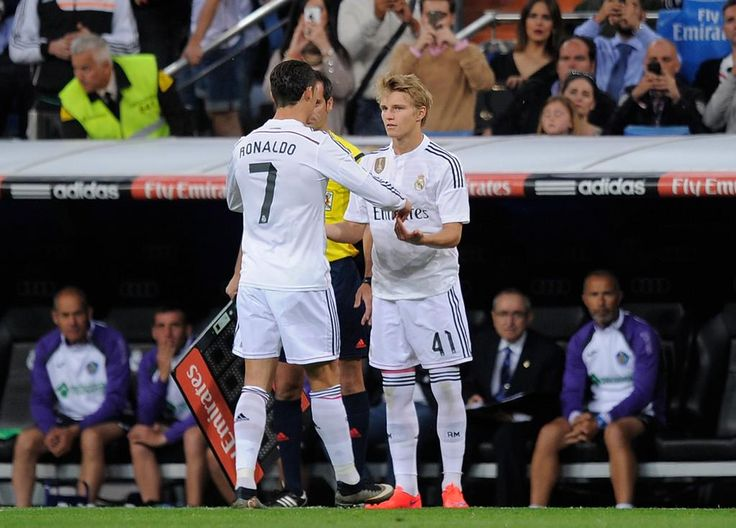Cristiano Ronaldo and Martin Ødegaard - Real Madrid