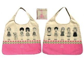 tas madame mo € 16,00   Toch ineens in de supermarkt beland. Je kind mag alle knutsels mee naar huis nemen. Je vriendin geeft je een stapel kinderkleding te leen. Geen probleem. Je tovert gewoon deze tas uit je handtas.
