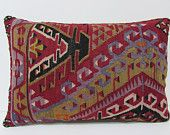 kilim pillow orient 16x24 red decorative pillow traditional throw pillow kilim pillow turkish throw pillow case boho tapestry red rug 23189