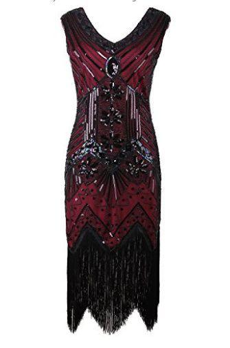 1920 Flapper Trendy Gastby Fashion Embellished Fringed Sequin Dress