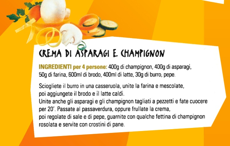 Crema di Asparagi e Champignon