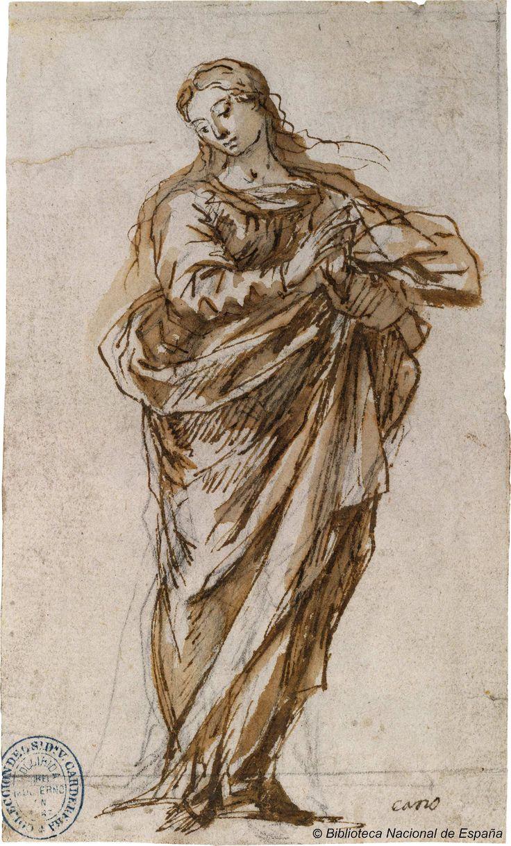 [Inmaculada Concepción]. Cano, Alonso 1601-1667 — Dibujo — 1635