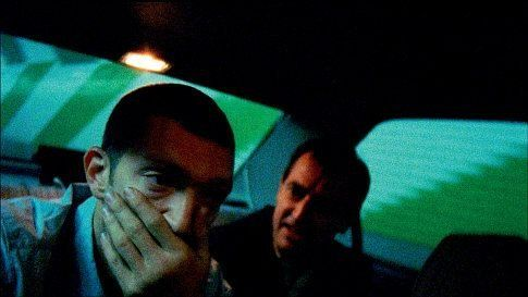 Vincent Cassel as Marcus, and Albert Dupontel as Pierre in the Gaspar Noé film IRREVERSIBLE.
