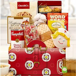 Another Get well gift basket. This would make anyone feel better :)