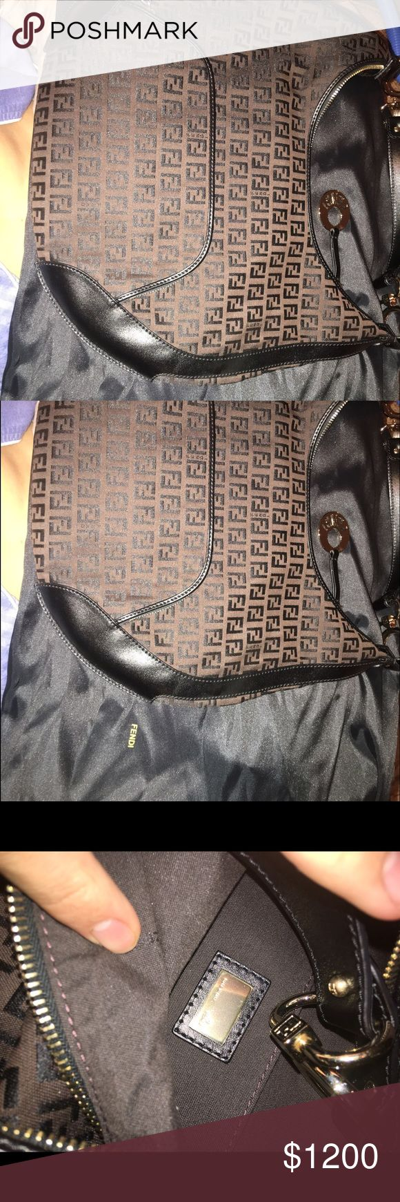 100% Authentic Never Used Fendi Purse Brown and Black Double F Fendi purse with carry bag never used 100% genuine Fendi Bags
