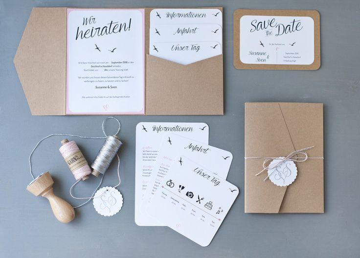 Einladung Hochzeit DIY                                                                                                                                                                                 Mehr