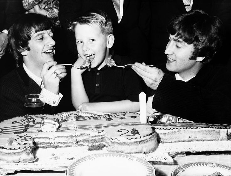 John Lennon and Ringo Starr attend the birthday party of Roy Orbison and feed…
