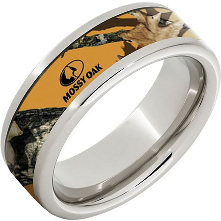 blaze orange camo ring - Orange Camo Wedding Rings