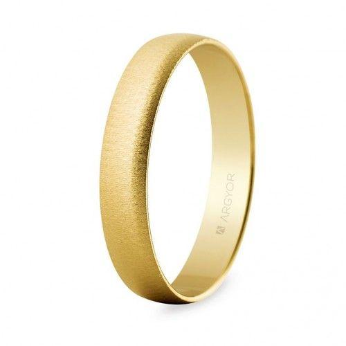 Alianza de oro texturizada 4 mm (50403T). Selección anillos de boda 18 kilates con textura.
