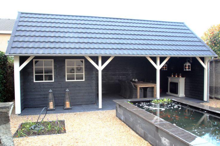 Tuinhuis Linge met ruime veranda in landelijke stijl