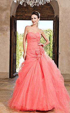robe de bal sweetheart parole longueur robe de soirée en tulle